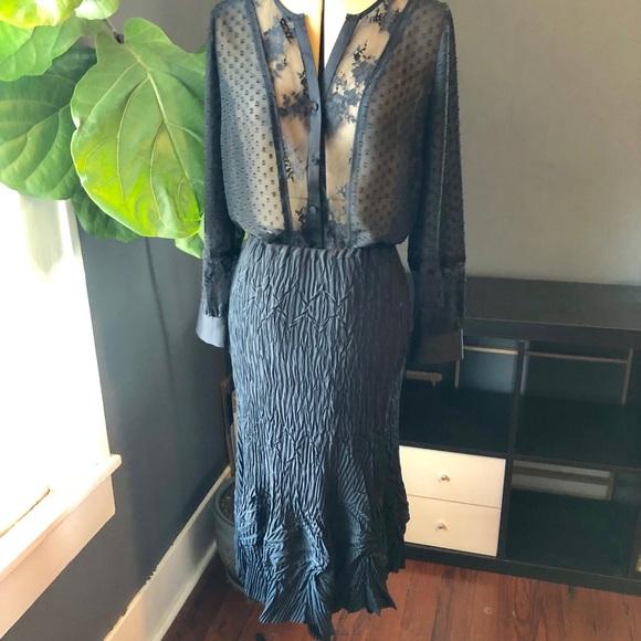 b9949754a5 babette Dresses & Skirts - Babette unique black crinkle pleated skirt